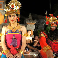 Bali fun guide, dancers at Grand Hyatt dinner show
