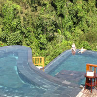Stunning pools at Hanging Gardens Ubud