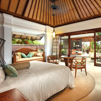 Bali conference hotels and small meetings, Hilton pool villa, former Grand Nikko