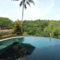 Ubud resorts review, Pita Maha pool view