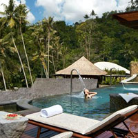 Mandapa Spa offers one of the most stunning riverside locations for massage and wellness