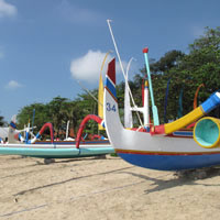 Bali fun guide - fishing boats at Sanur