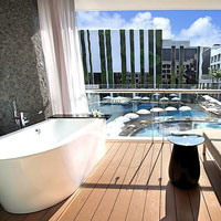 Hip hotels, Stones on Kuta is a good MICE and Bali conference hoterls choice and tubs with a view