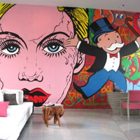 Seminyak hip hotels review, W Retreat pop art