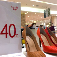Jakarta shopping deals and bargains - shoes on sale at Lotte