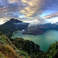 Lombok fun guide for families, Mt Rinjani Crater Lake view