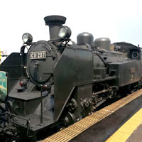 Steam train rides are a fun attraction in Hokkaido at holiday time