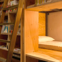 Tokyo bookstore hotel, Book And Bed, sleep in the shelves...