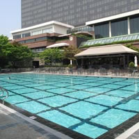 Seoul business hotels, Grand Hyatt pool
