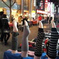 Seoul shopping, Myongdong stockings