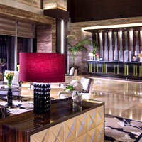 Incheon long-stay hotels and serviced residences, Oakwood lobby