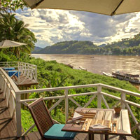 Luang Prabang boutique hotels, Belle Rive is by the river