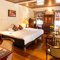 Mekong Riverview rooms are stylish and bright