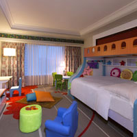 Macau fun guide, child friendly Sheraton family room