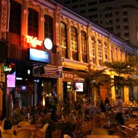 Penang bars and nightlife, outdoors near Garage