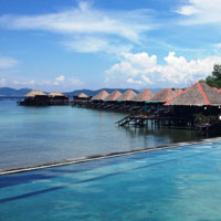 Sabah guide, Gayana Eco Resort poolside