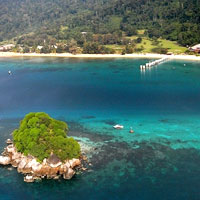 Tioman dives and beaches, Berjaya Resort white sand and blue seas