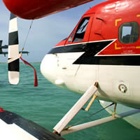 Twin Otter seaplanes are the main mode of transport inter-island