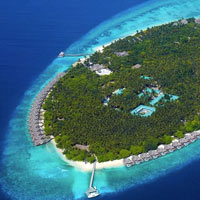 Dive resorts in the Maldives, Dusit Thani aerial view