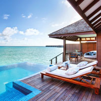 Hideaway Beach Resort offers some of the largest villas in the Maldives