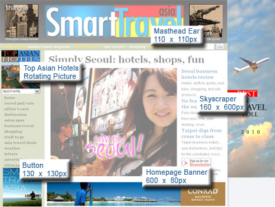 Advertising Positions for Smart Travel Asia