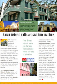 A4 online page, brochure, news release for national tourist offices - Macau Tourism's historic walks