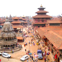 Patan temple spires