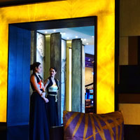 Manila luxury hotels, Nobu, City of Dreams, lobby hostesses