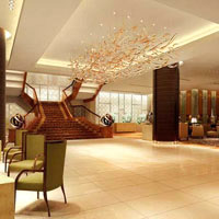 Makati business hotels, compare Fairmont vs Peninsula, Fairmont luxury lobby view