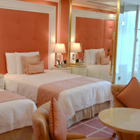 Best Manila casino hotels, Okada favours pink in Pearl Wing rooms