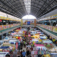 Greenhills offers fun shopping for bargains in a vast hall