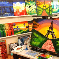 Manila fun guide for families, Sip and Gogh for art classes with wine and cheese