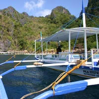 Palawan resorts review, Miniloc banca
