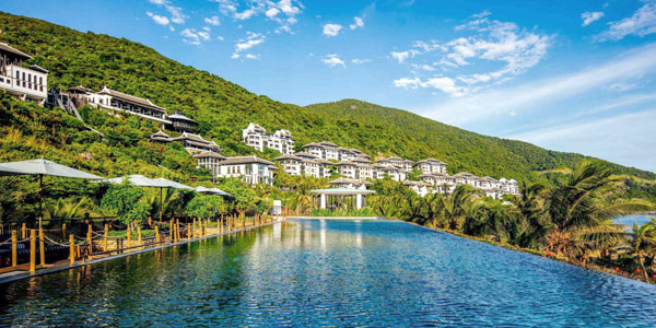 InterContinental Danang Sun Peninsula Resort, a top Vietnam wedding hotels pick and yes with a beach