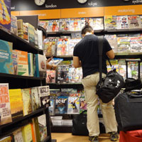 Books are wonderfully cheap in Singapore - Changi Airport store
