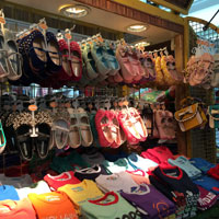 Singapore bargains on shoes, Bugis stall