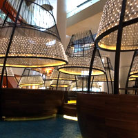 Pan Pacific's striking new lobby ensemble