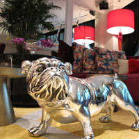 Sofitel So silver bulldog, a hip Singapore hotels choice