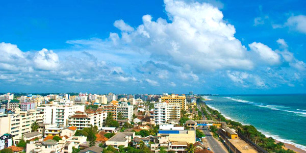 Colombo business hotels and fun guide - coastline view from OZO