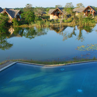 Best Sri Lanka resorts, Vil Uyana has views of Sigiriya Rock