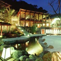 Beitou spa resorts, Asia Pacific courtyard picture