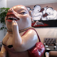 Taipei boutique hotels, Eclat features whimsical art works