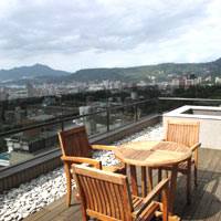 Beitou hot spring resorts, Grand View Resort patio