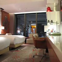 Taipei hip hotels, W Wonderful room