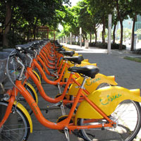 Taipei fun guide, rent a bicycle in Xinyi