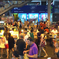 In addition to the Chatuchak weekend market, try the Silom pedestrian sections under the Sala Daeng BTS
