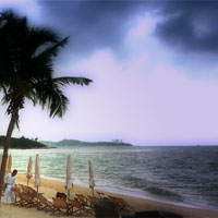 Pattaya fun guide, beach and monsoon skies