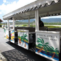 Samui Airport, trolley transfer