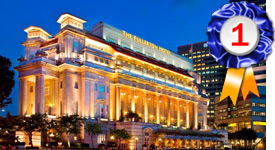 The Fullerton Hotel Singapore, ranked the Best Conference Hotel in Asia 2019