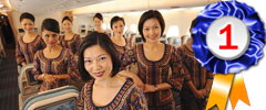 Singapore Airlines, Best Cabin Service worldwide